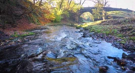 Picture of the River Dane flowing under Dane Bridge, Wincle
