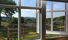 Picture through hut window